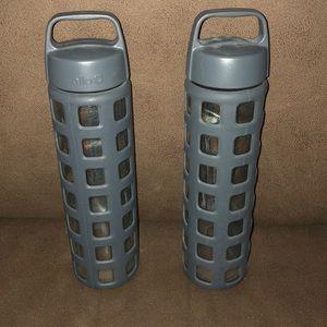 Two Ello Glass Water Bottles